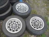 all 4 wheels with very good 215/60/15 tires and new lug