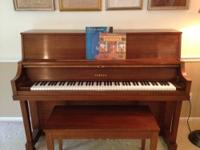 Beautiful upright piano for sale. Very good condition.