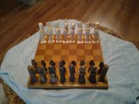 Egyption camel bone chess set board is not the original