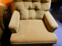 I have a good fabric, camel colour, swivel rocker,