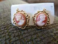 Beautiful Cameo Earrings - NEW! Cash only - exact