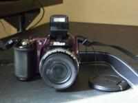 nikon L830 coolplix 34x optical zoom wide full HD  nice