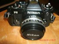 Nikon 35mm FG with tele. leans carring case and more