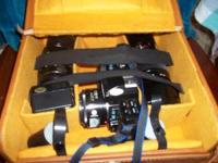 Minolta Camera, with case and all the attachments,