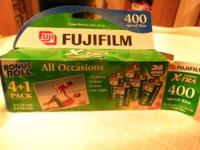 rolls of film fuji 400 1 roll of 36, 6 rolls of 24 all