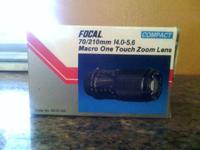 Focal 70/210mm 14.0-5.6 Macro One Touch Zoom Lens,