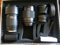 Selling My 75-300 mm tamron lens 500 mm bower mirror