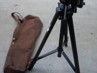 Carrot brand Model CT-1130 Tripod. Extends from 21-48