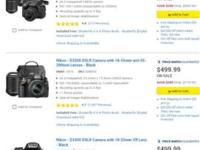 Selling a camera complete with everything also comes