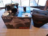 Cameras for Sale 1. Pentax ZX-50 35 MM $35 OBO with