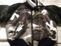 kids cammo jacket brand new with tags still on it 30.00