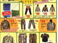 Truckload of merchandise -- CAMO AND MORE CLOSEOUT SALE