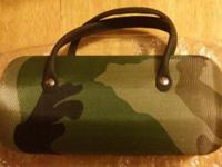 New Camo eyeglass case. Sturdy. Green interior size: