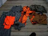 *One orange camo jacket and pants by Stearns Dry Wear ~