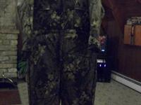 Camo insulated overalls, these have never been worn, in