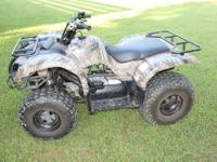 Great for a youth hunter! Camo Yamaha 2007 grizzly