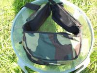 Fleece Camoflage Waist Belt Bag 4 Zipper Pockets New