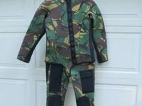 One of a kind! Camouflage wetsuit, 3/16 (4.7mm) thick,