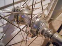 Campagnolo record 10 speed hubs 28 double butted spokes