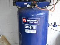 80 gallon Campbell Hausefield vertical air compressor: