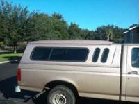 Camper shell, like new, 300.00 obo fits most 8 foot