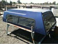 For sale fiberglass camper shell, windows all work, no