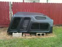 Dark Grey Camper Shell for sale. Great condition, new!