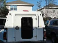 Work Truck Camper Shell for sale, both side open for