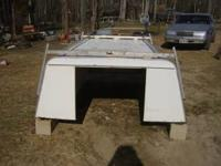 White camper shell toolbox fits full size longbed
