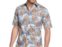 Mix this handsome print shirt by Campia Moda with one