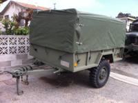 Nice heavy duty 3/4 ton trailer.  drop tailgate, heavy