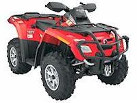 2007 Can-Am Outlander 650XT. 4wd, winch, hitch, horn,