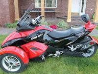 A trip on the Can-Am Spyder RS roadster isn't just an