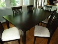 Canadian made solid wood dining-room table for sale.