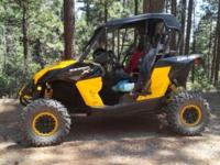 2013 Can Am Maverick 1000R. Hardly used low hrs. 19.2.