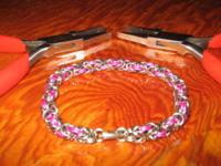 Chain Maille bracelet, made of sturdy surgical steel,