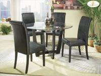 Candace Round Dining Set Made of hardwoods and birch