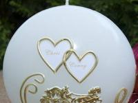 Wedding Disc Candle Handmade paraffin wax candle with