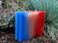 Rainbow Wave Candle Handmade paraffin wax candle with