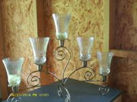 . # 1 )Vintage Home Interiors Brass Plated Candelabra,