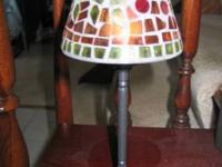 Your choice Shades of brown 2 piece lamp or frosted