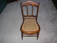 "Small & Beautiful CANE SEAT CHAIR (only 33"" high) Type"