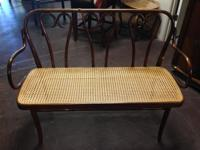 Cane Wood Loveseat Bench. Priced to offer at only