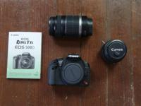 LIKE NEW CANNON REBEL T1I DIGITAL CAMERA (PHOTO AND