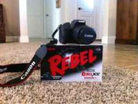 Cannon rebel XS. Hardly been used. Please call with any