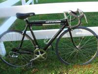 20 inch frame. Attached tire pump, pedal straps. Call