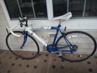 54 cm frame. Brand new 155mm white Specialized?S Works