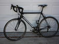 58 cm. Aluminum Frame/ Carbon Fork. Shimano 105 parts.