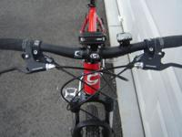 NEW RED MADE IN USA 2007 CANNONDALE F5 MOUNTAIN BIKE