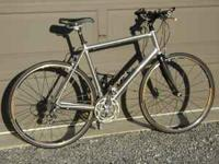 2008 Cannondale R-1 flat bar road bike for sale. 10 spd
